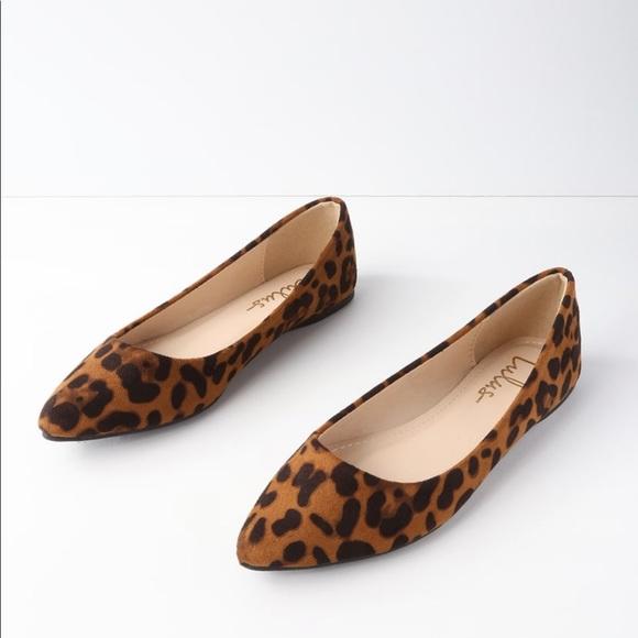 Shoes   Lulus Leopard Flats   Poshmark